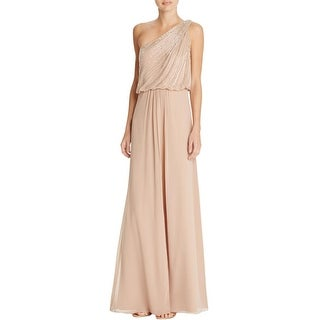 Aidan Mattox Womens Evening Dress Taffeta Beaded