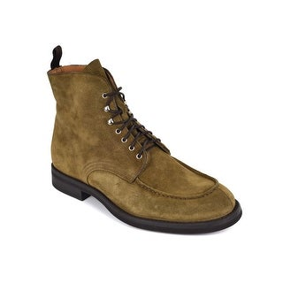 Sutor Mantellassi Mens Brown Suede Lace Up Moccasin Combat Boots