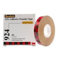 Scotch 924 ATG Adhesive Transfer Tape, 0.50 Inch x 60 Yards, Clear