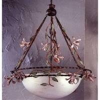 "Classic Lighting 3645 Secret Garden 3 Light 26"" Wide 1 Tier Shaded Chandelier"