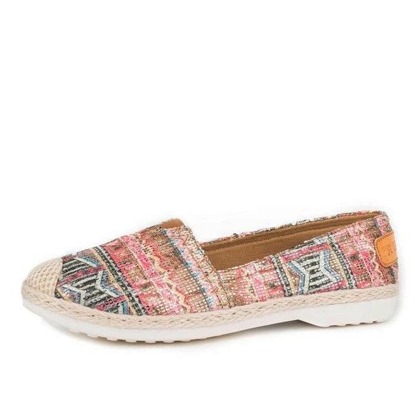 Roper Casual Shoe Womens Bianca Pink Southwest 09-021-3002-1458 PI