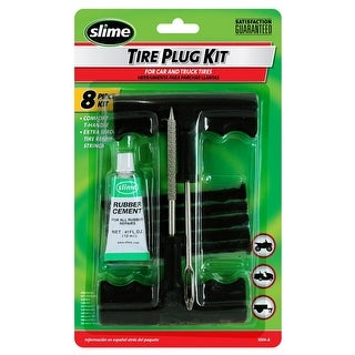 Slime 1034-A Tubeless Off-Road Tire Plug Kit with T-Handle, 8-Piece