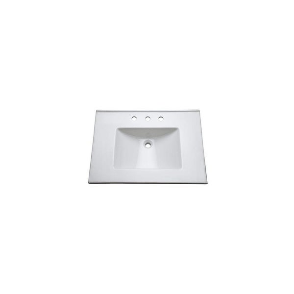 "Mirabelle MIRT31228 31"" Fireclay Vanity Top with Integrated Sink - White"