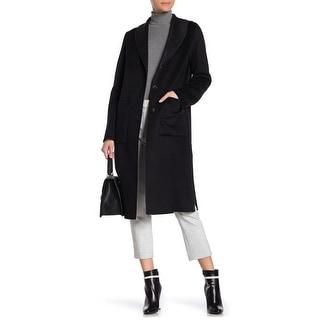 Link to Tahari Women's Coat Black Size Large L Jenna Two Tone Wool Blend Similar Items in Women's Outerwear
