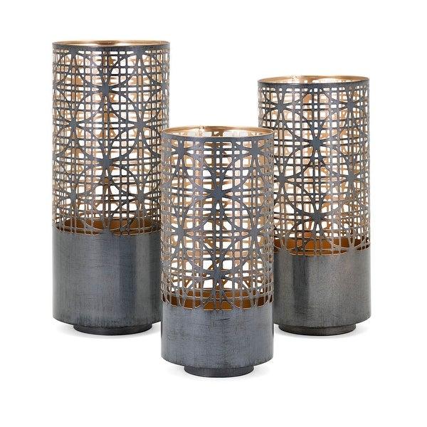 b4048e5fc4 Shop IMAX Home 14322-3 Modi 3 Piece Iron Pillar Lantern Candle Holder Set -  - Black - Free Shipping Today - Overstock - 27547855