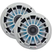 """Mb Quart Nk1-116L Nautic Series 6.5"""" 120-Watt 2-Way Coaxial Speaker System (With Led Illumination)"""