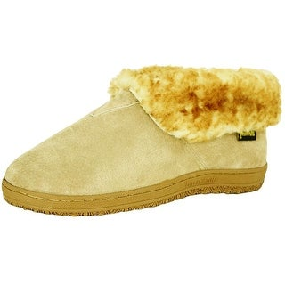 Old Friend Slippers Mens Sheepskin Ankle Bootee Chestnut