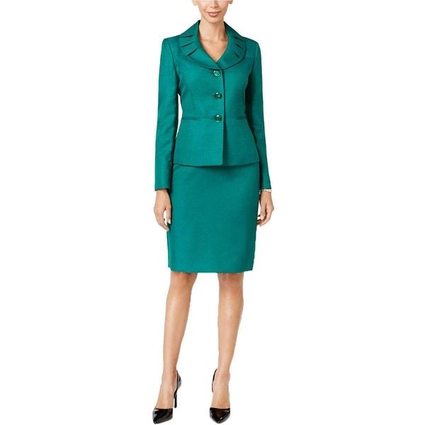 Le Suit Womens Prague Skirt Suit 2PC Long Sleeves