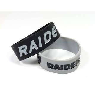 Oakland Raiders Bracelets 2 Pack Wide
