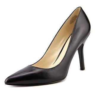 Nine West Shimmer Women Pointed Toe Leather Black Heels