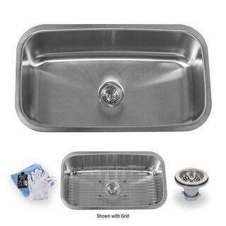 "Miseno MSS3219C 32"" Undermount Single Basin Stainless Steel Kitchen Sink - Drain Assembly, Basin Rack and Maintenance Kit"