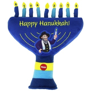 The Mensch on a Bench Hanukkah Plush Singing Menorah