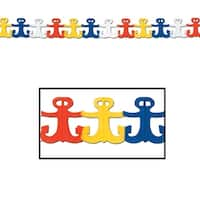 Club Pack of 12 Multi-Colored Nautical Anchor Garland Party Decorations 12' - Multi
