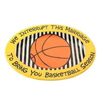 Our Name is Mud  Basketball Platter - 14.0 in. x 10.0 in.