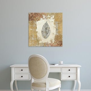 Easy Art Prints Avery Tillmon's 'Gilded Leaf III' Premium Canvas Art
