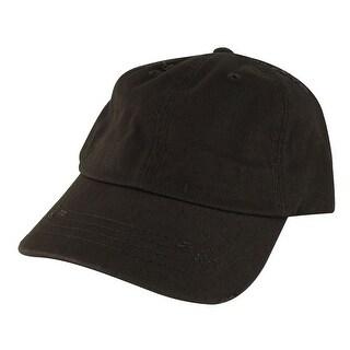 959 Series Curve Visor Cotton Unstructured Vintage Frayed Strapback Hat Cap - Brown