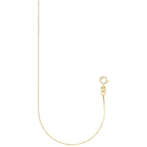 Forever Last 10 Kt Gold Box Chain Necklace