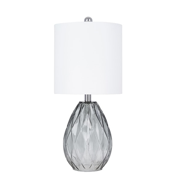 Grey Glass Table Lamp. Opens flyout.