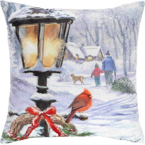 Cushion Xmas With Led Christmas Lantern