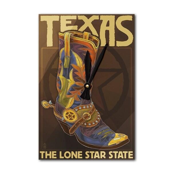 TX - Boot & Star - LP Artwork (Acrylic Wall Clock) - acrylic wall clock