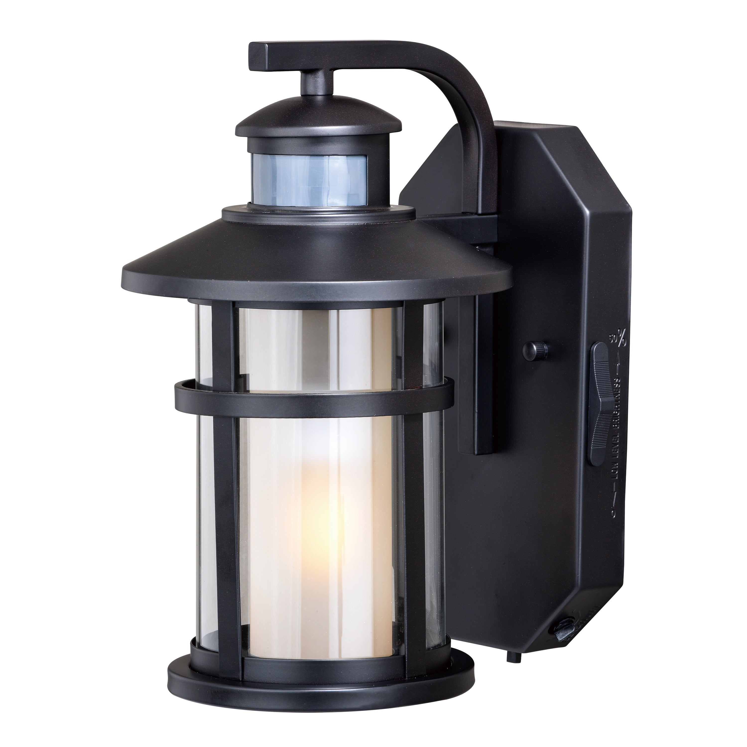 Image of: Shop Black Friday Deals On Cadiz Bronze Motion Sensor Dusk To Dawn Mission Outdoor Wall Light 6 5 In W X 10 5 In H X 8 5 In D Overstock 20876983