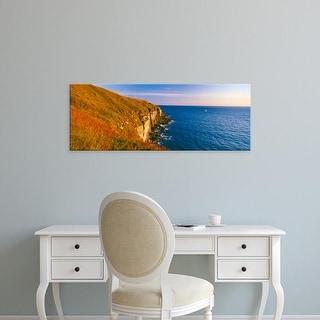 Easy Art Prints Panoramic Images's 'Coastline, Portland, Dorset, England' Premium Canvas Art
