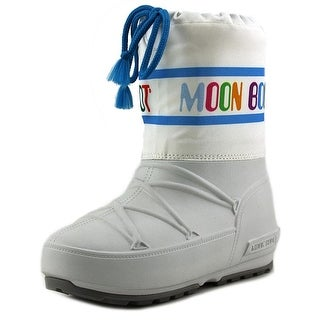 Tecnica Moon Boot Crib Youth Round Toe Canvas White Winter Boot