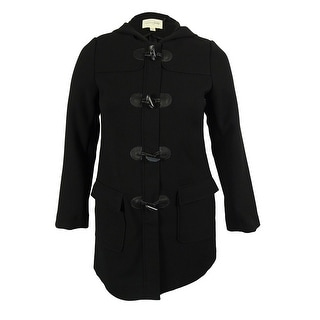 Maison Jules Women's Hooded Toggle Coat - L
