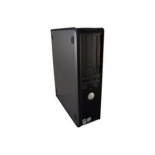 Dell OptiPlex 745 DT Black & Gray Refurbished PC - Intel Core 2 Duo 2.13 GHz 4GB DIMM DDR2 250GB DVD-RW Windows 10 Pro 64-Bit