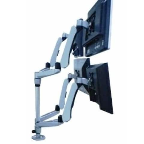 Cotytech DM-C4SA5-S-C Four Monitor Desk Mount Spring Arm Quick Release