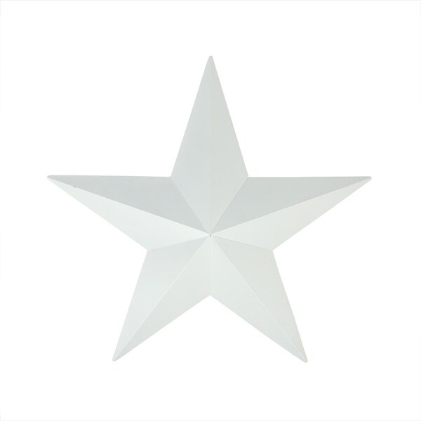 "15"" Matte White Country Rustic Star Indoor/Outdoor Wall Decoration"