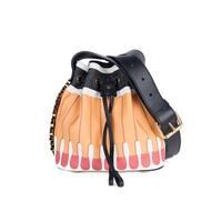 "Moschino Orange 'It's Lit Matchbook' PVC Bucket Cross-body Bag - 7.5""l x 8""h x 6""d"