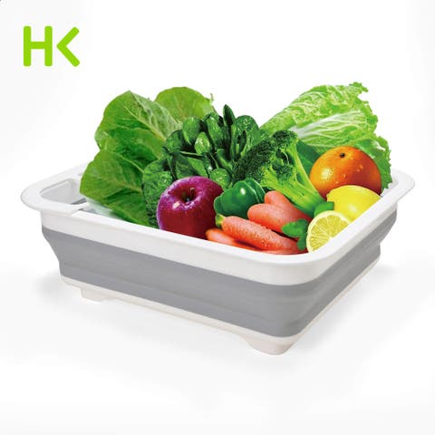 HK Dish Drainer Holder Multi-function Foldable Dish Rack Suit for Small Sink - L