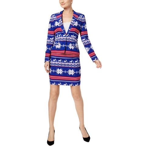 Opposuits Womens Ms. Rudolph Skirt Suit Holiday Party