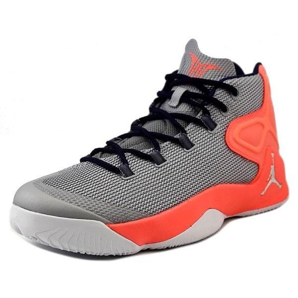 Jordan Melo M12 Men Round Toe Synthetic Gray Basketball Shoe