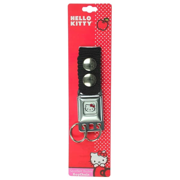 Shop Hello Kitty Face White Seatbelt Keychain Overstock 17169106