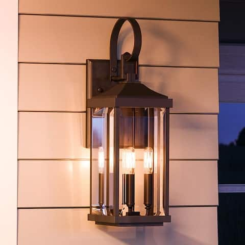 """Luxury Colonial Wall Sconce, 30.625H x 9.5""""W, with Farmhouse Style, Olde Bronze, UHP1194 by Urban Ambiance"""
