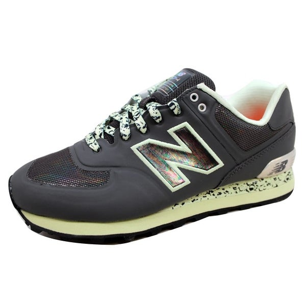 New Balance Men's 574 Atmosphere Black/Green-Silver ML574OBK