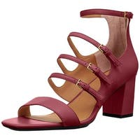 Calvin Klein Womens Caz Round Toe Casual Strappy Sandals