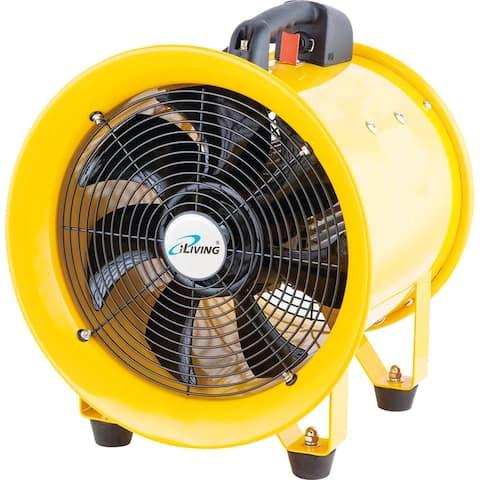 iLIVING 12 inch Utility Blower Exhaust Warehouse Ventilator Fan, 550W, 3450RPM