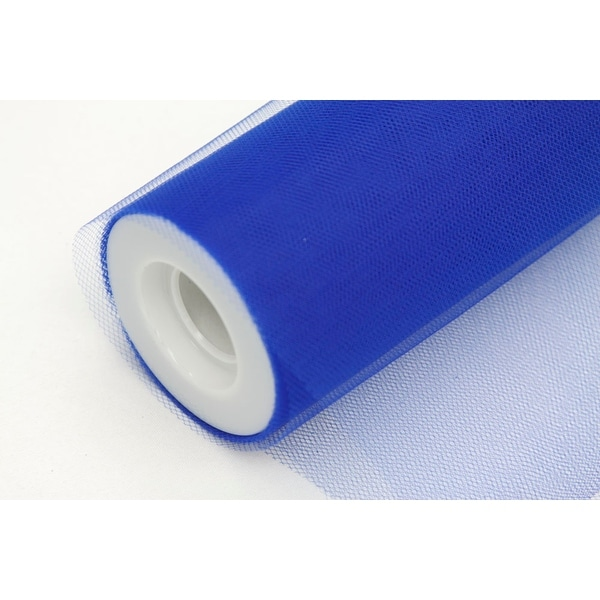 """Tulle 12"""" Roll 100% Polyester Approx. 12"""" wide x 25 yards - Royal Blue, 1 Piece"""