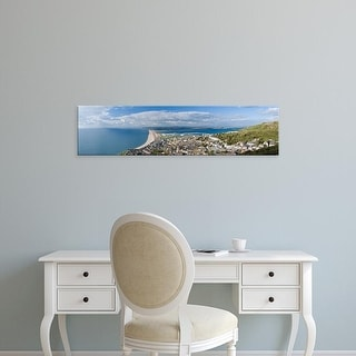 Easy Art Prints Panoramic Images's 'A city at waterfront, Chesil Beach, Isle of Portland, Dorset, England' Canvas Art