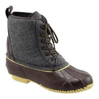 Superior Boot Co. Men's Felt Lace Up Duck Boot Grey