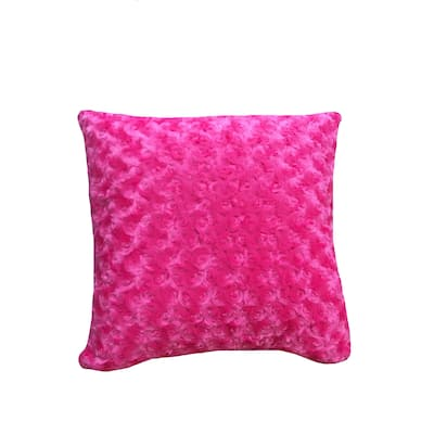 Cotton Tale Hot Pink Faux Throw Pillow
