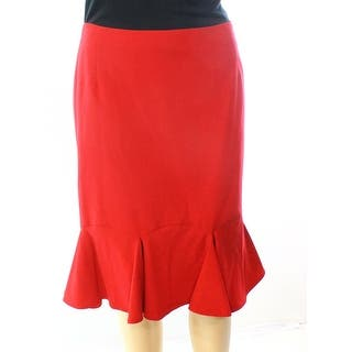 Nine West NEW Red Womens Size 16 Side-Zip A-Line Ruffle-Hem Skirt|https://ak1.ostkcdn.com/images/products/is/images/direct/1abdecddfa03154516a49d67aae05af2eea6bcf3/Nine-West-NEW-Red-Womens-Size-16-Side-Zip-A-Line-Ruffle-Hem-Skirt.jpg?impolicy=medium