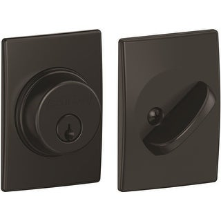 Single Cylinder Deadbolt with Century Trim, Matte Black (B60 N CEN 622)
