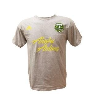 Adidas Men's Portland Timbers adidas Logo Alaska Airlines T-Shirt - Heather Grey