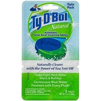 Ty-D-Bol 561001.2x6T Natural Automatic Toilet Bowl Cleaning Tablets, 2/Pack