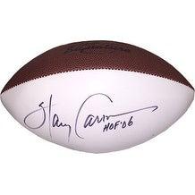 Harry Carson signed Wilson Signature White Panel Football HOF 06 (New York Giants)