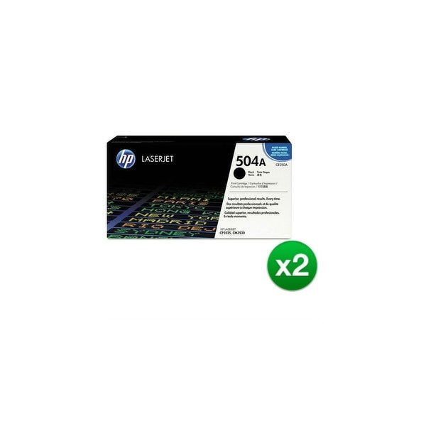 HP 504A Black Original LaserJet Toner Cartridge For US Government (CE250AG)(2-Pack)